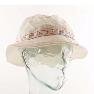 US Open White Cotton Bucket Hat Vintage Unworn